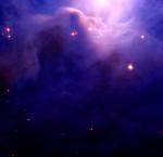 Blushing dusty nebula